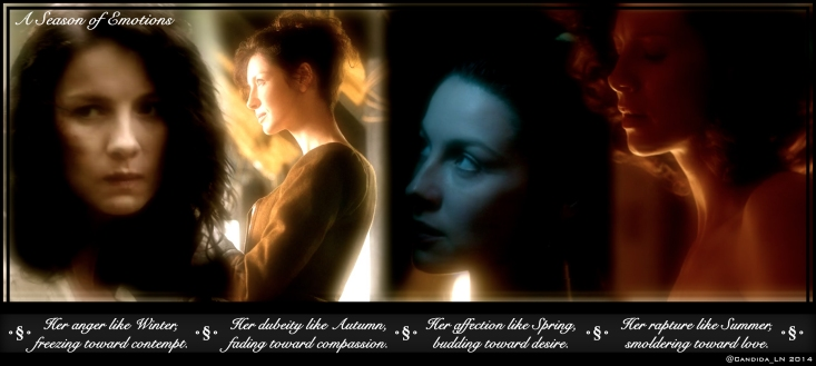 The many faces of Claire Randall (Caitriona Balfe).