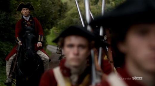 Captain Black Jack Randall Approaches Lallybroch
