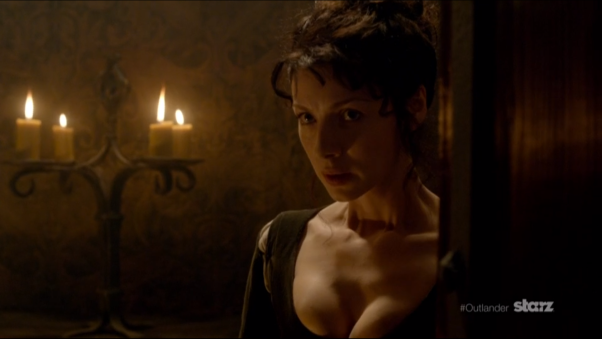 Claire Entering Leoch Hall 1