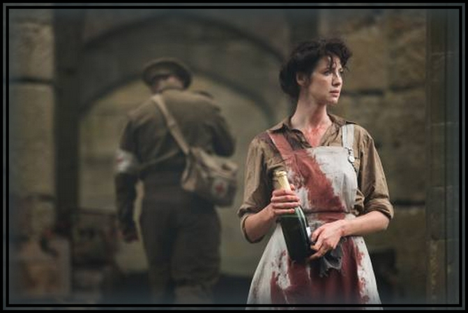 Claire Randall (Caitriona Balfe) World War II combat nurse in action.