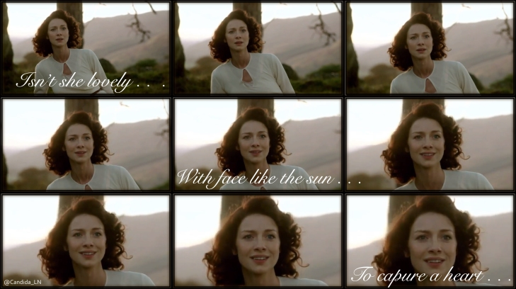 Claire (Caitriona Balfe) unknowingly wakes up in 1743 Scotland.