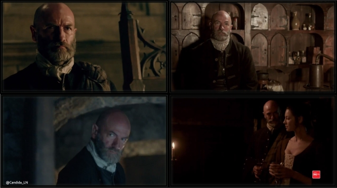 The many faces of Dougal MacKenzie (Graham McTavish) – all rather menacing.
