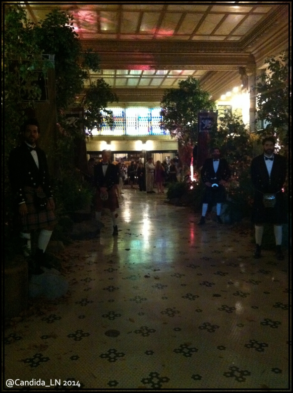 Kilted entryway to the Spreckles Lobby.