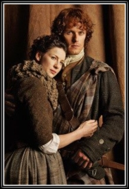 Caitriona Balfe and Sam Heughan as Claire Randall and James Fraser