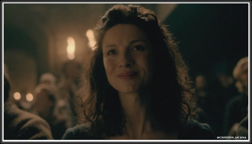 Claire's (Caitriona Balfe) hope soars when Jamie relays the story of the wife of Balnain.