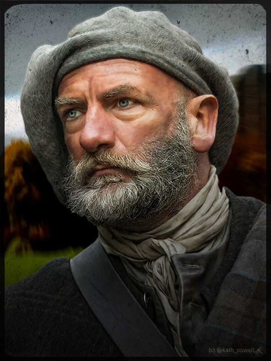 Graham McTavish as Dougal MacKenzie by Kath Powell