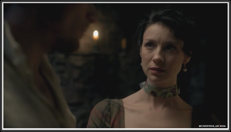Claire (Caitriona Balfe) senses danger for Jamie.