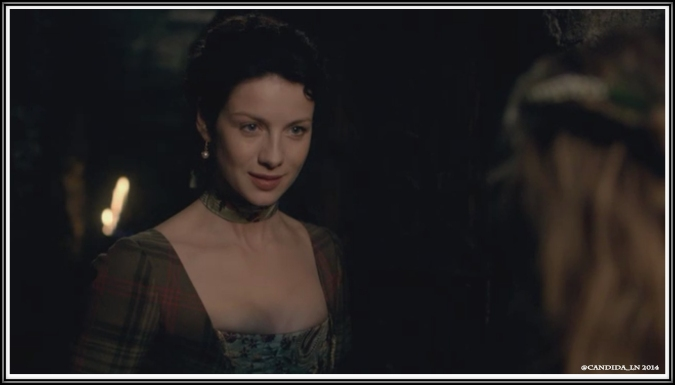Claire (Caitriona Balfe) advised the naive Laoghaire.