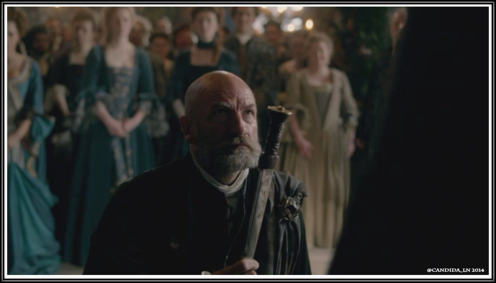 Dougal MacKenzie (Graham McTavish) swears his loyalty to his Laird and chief.