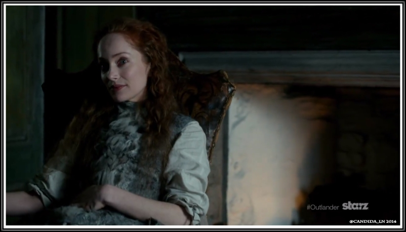 Geillis Duncan (Lotte Verbeek) tries to pry secrets from Claire.