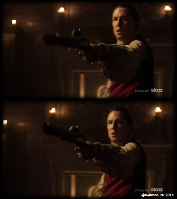"Tobias Menzies as the infamous Captain ""Black Jack"" Randall."
