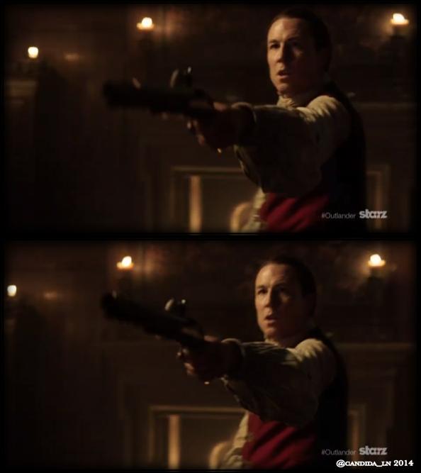 "Tobias Menzies as the infamous Captain ""Black Jack"" Randall."