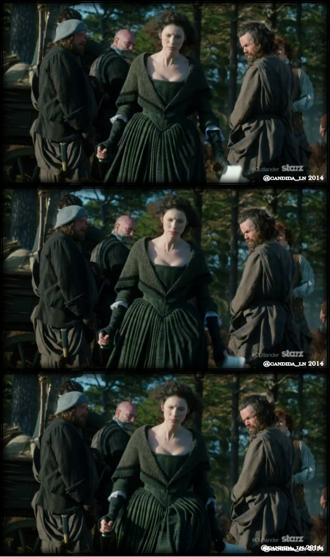 Claire (Caitriona Balfe) looks fed up with men.