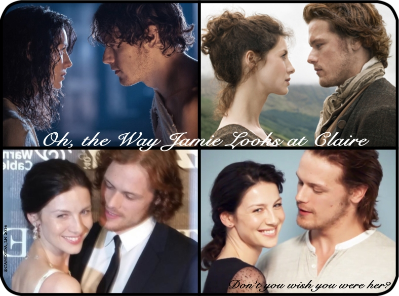 The Sexiest Man Alive (Sam Heughan) with the Sexiest Woman Alive (Caitriona Balfe).