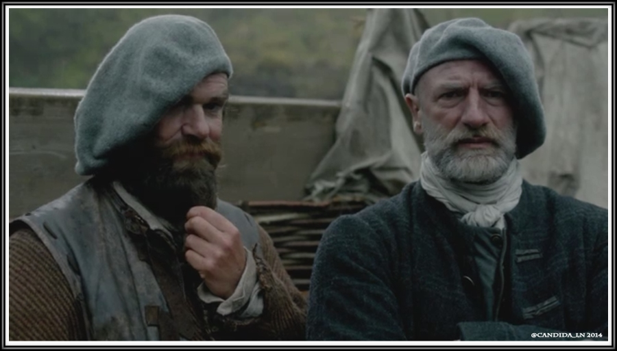 Dougal (Graham McTavish) watches with Murtagh (Duncan Lacroix) who has become one of the most treasured characters of Outlander. The man really needs his own show.
