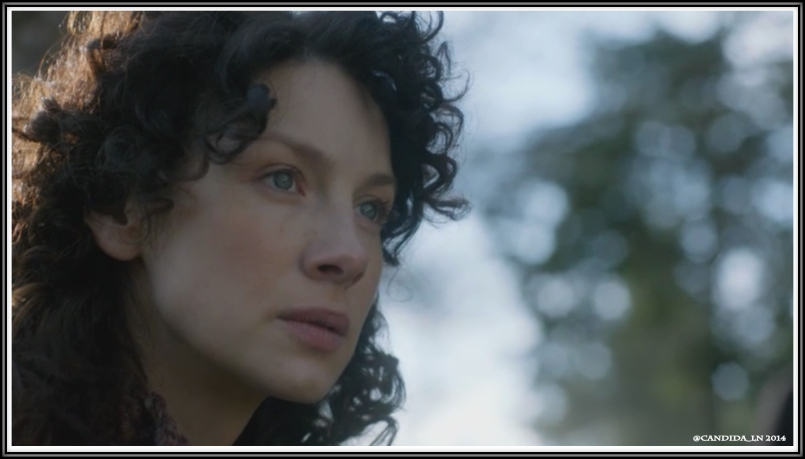 One of Claire's (Caitriona Balfe) many forlorn moments.