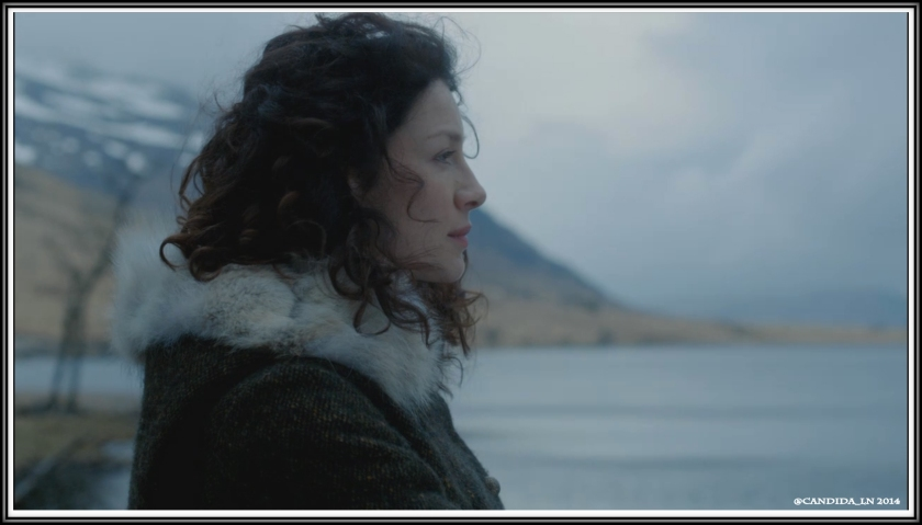 Claire (Caitriona Balfe) contemplating her existence.