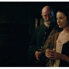 Graham McTavish as Dougal MacKenzie & Caitriona Balfe as Claire Randall