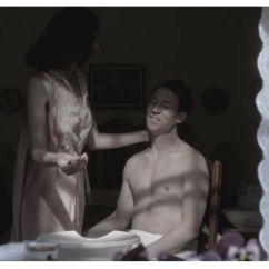 Caitriona Balfe & Tobias Menzies as Claire & Frank Randall