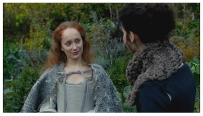 Lotte Verbeek as Geillis Duncan & Caitriona Balfe as Claire Randall