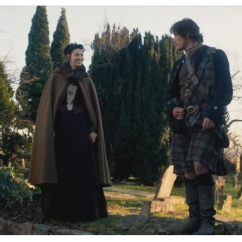 Caitriona Balfe as Claire Randall & Sam Heughan as James Fraser
