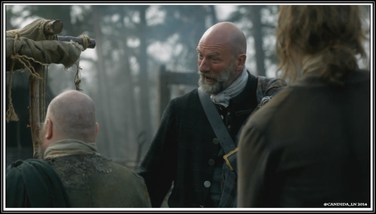 Dougal (Graham McTavish) teases a villager.