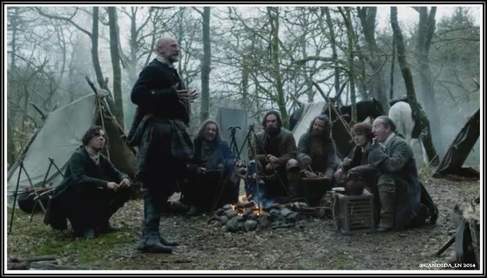 Dougal (Graham McTavish) tells a bawdy joke.