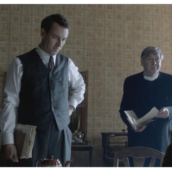 Tracey Wilkinson as Mrs. Graham, Tobias Menzies as Frank Randall & James Fleet as Reverend Wakefield