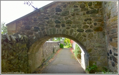 Walkway to the 12th Century St Fillan's Church built at the same time as the original foundations of the castle.