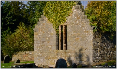 The Black Kirk window where Jamie stood looking adorable as ever.