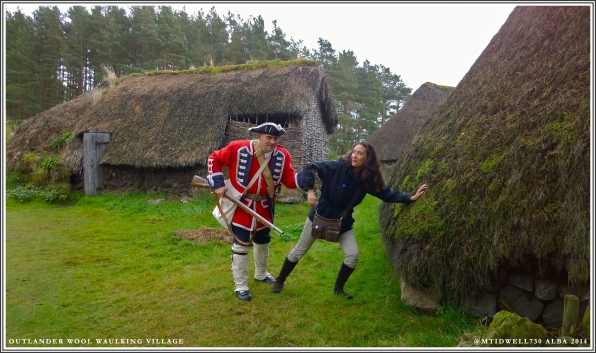 This redcoat is trying to keep me from getting to the tavern. He doesn't understand Jamie needs me to mend his shirt.