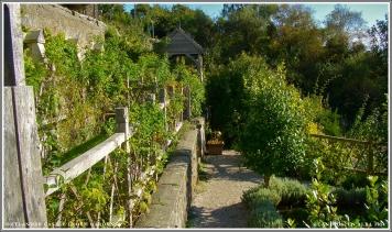 Castle Leoch Gardens, center walkway.