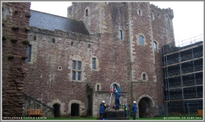 Front tower leading into Doune Castle courtyard – door to right is main entrance.