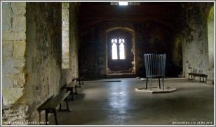 Doune Castle's Great Hall – not so great as Castle Leoch's in Outlander.