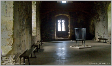 Doune Castle's Great Hall – not so great as Castle Leoch's in Outlander.