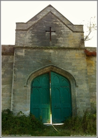 Main entrance to Georgian manor stable.